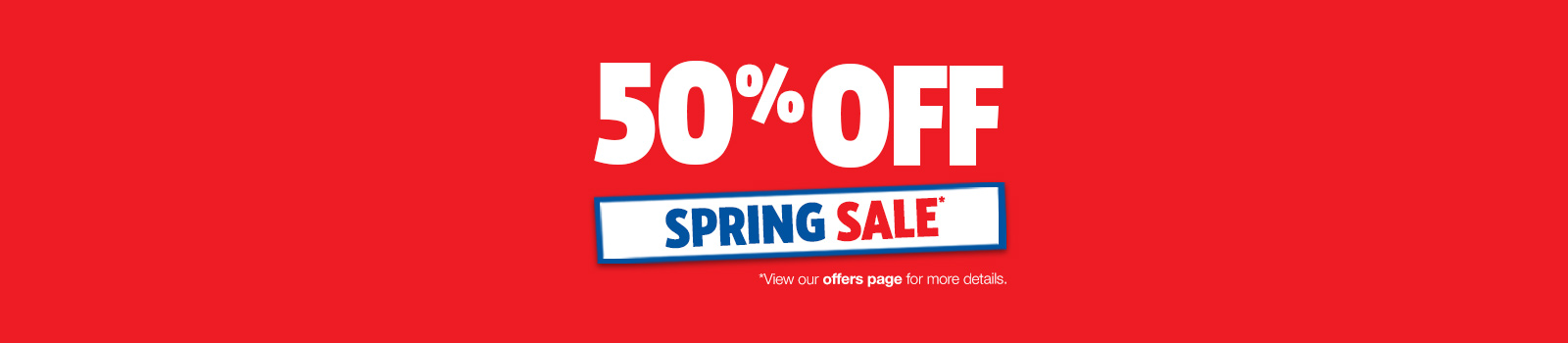 50% off in our spring sale