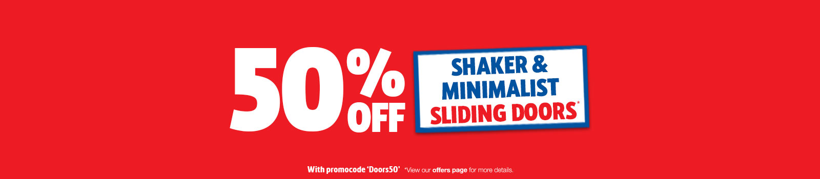 50% off shaker and minimalist